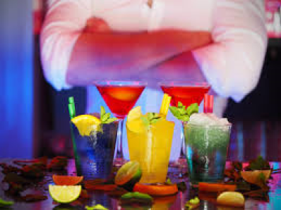The guest program says 'be my guest' and enjoy a cocktail at a new student party.