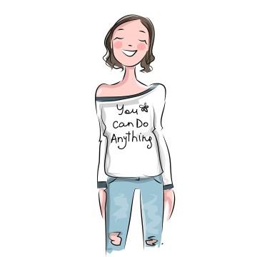 Having good self-esteem makes you feel like you can do anything.