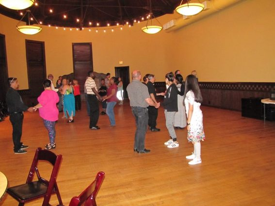 If you're new to ballroom dancing, try some group classes.