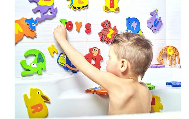 Toddlers love a fun bath.