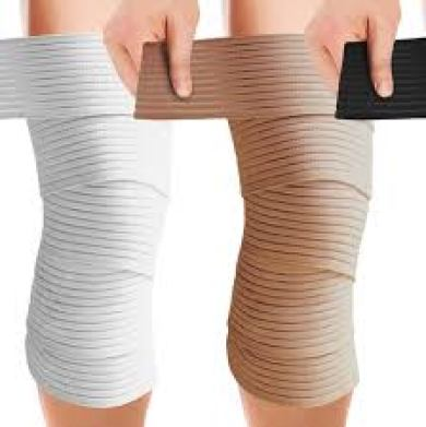 Use compression bandages to help with knee pain.