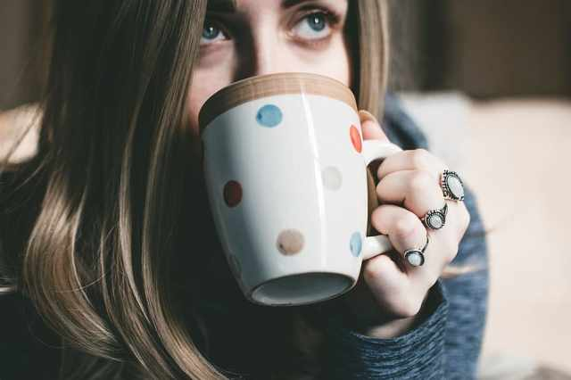 Anxious?  Try a cup of tea for peace of mind.