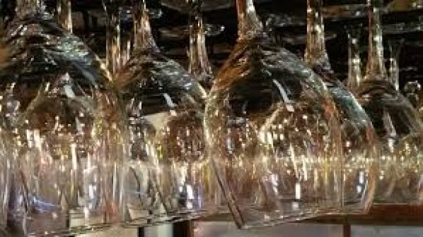 wine glasses are ready for a nice bottle or boxed wine