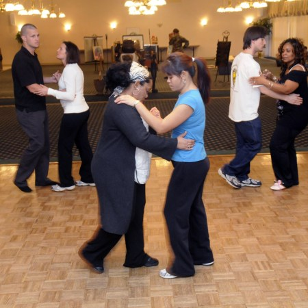 teaching ballroom dance
