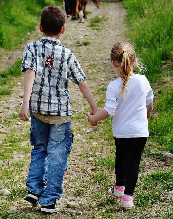 Children hold on to each other during times of domestic violence.