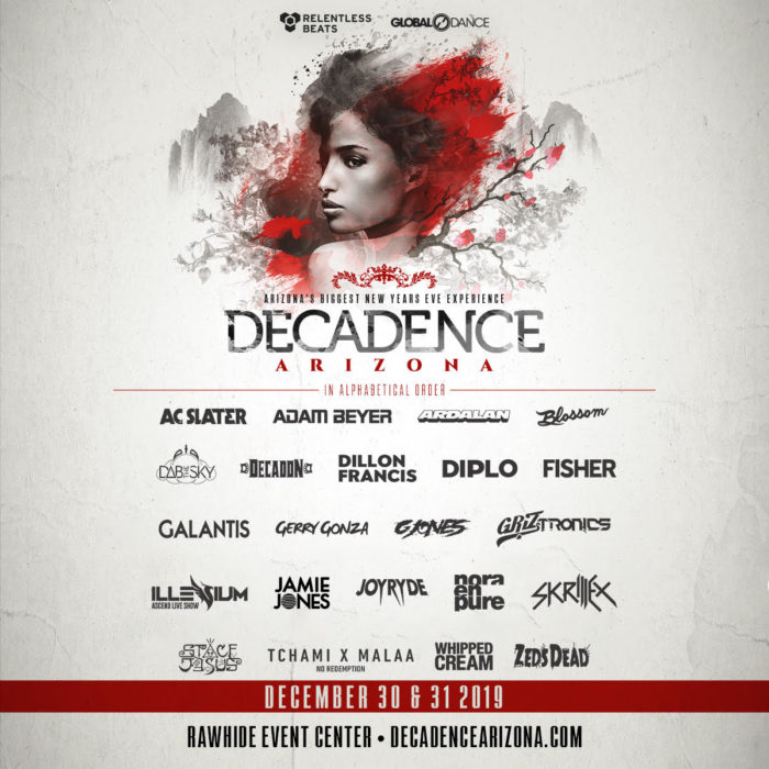 Dab The Sky, Griztronics, Whipped Cream join Skrillex, Diplo, Illenium, and more to complete Decadence AZ's 2019 lineupDecadence 2019 Full Lineup
