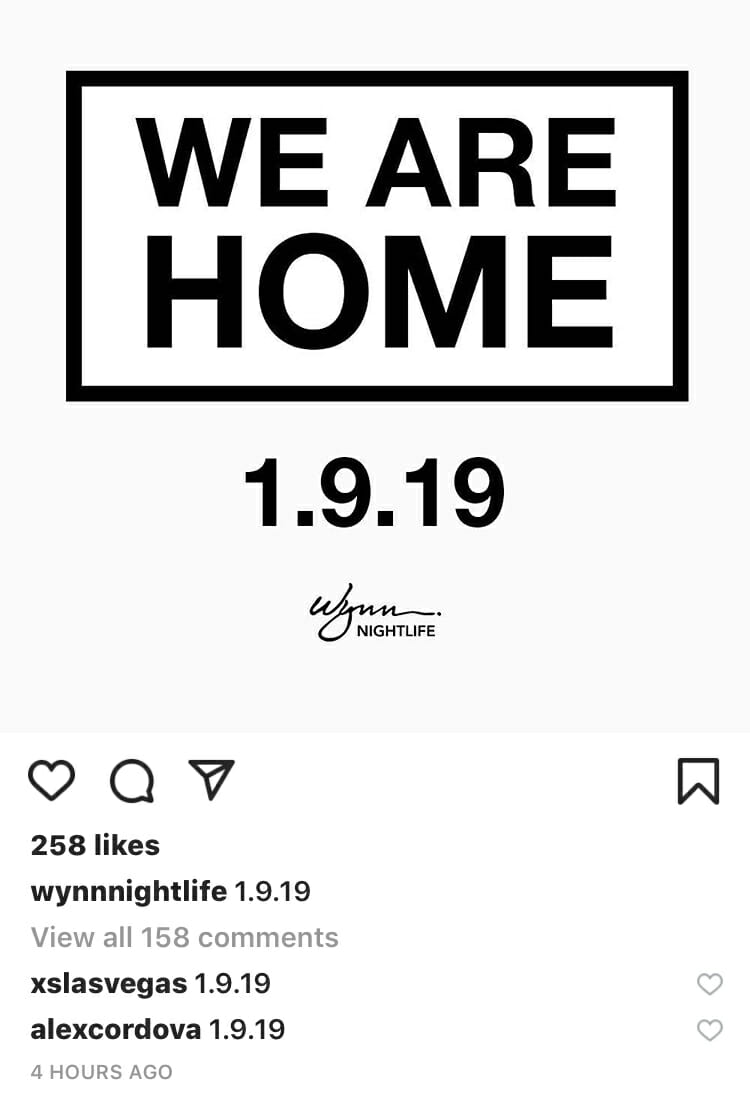 Mysterious Wynn Instagram post hints at Swedish House Mafia date — or morePhoto Jan 05 3 42 18 PM