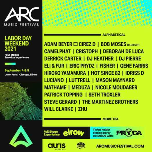 ARC Fest secures Eric Prydz, Adam Beyer, ZHU, Seth Troxler, and more for inaugural event in ChicagoArc Fest 2021