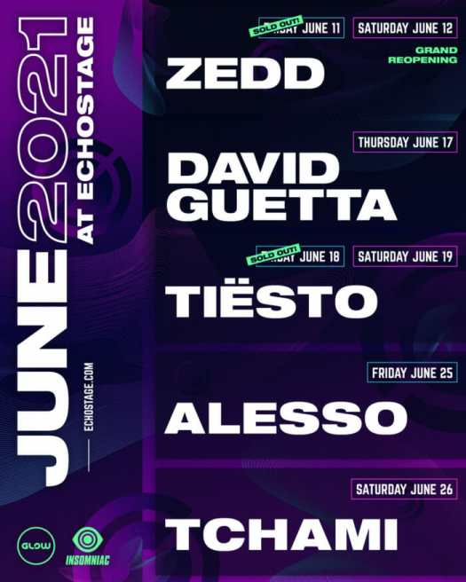 Club Glow plots Echostage's grand reopening—Zedd, Alesso, David Guetta, and more to performECHO June2021 Promo V1 1