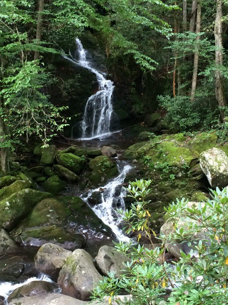 Mouse Creek Falls, The Smokies at a Distance