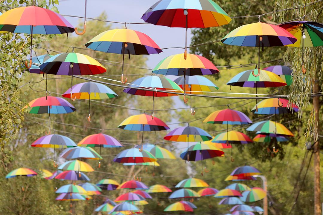 Ambiance dans une allée du Sziget Festival 2016