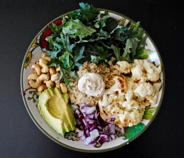 Dancing for Donuts | Roasted Cauliflower & Cashew Bowls.