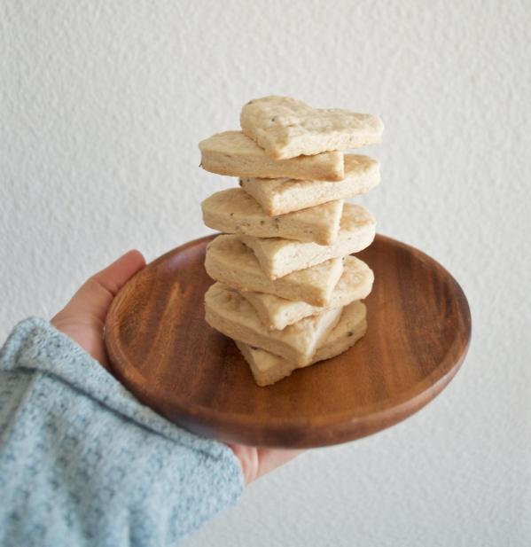 Dancing for Donuts | Vegan Maple Lavender Shortbread Cookies