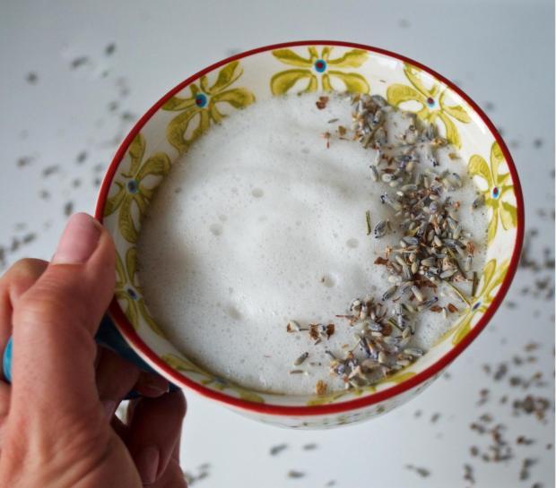 Dancing for Donuts | Lavender Almond Milk Latté