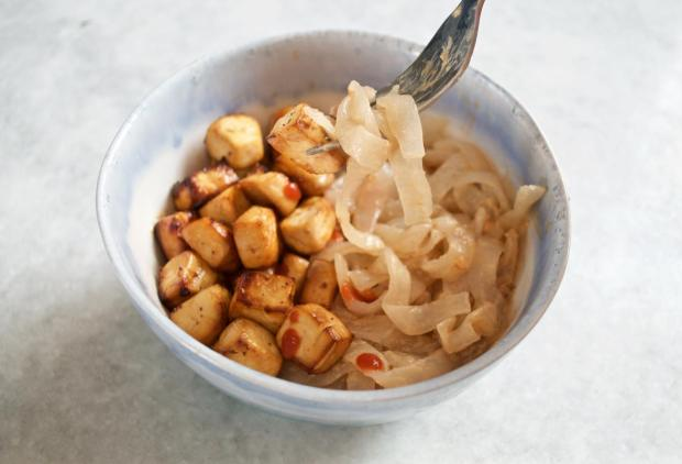 Dancing for Donuts | Easy Air-Fried Tofu & Shirataki Noodles (Vegan, Gluten-Free)
