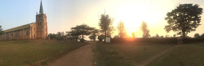 A church in a nearby village, Kyamaganda