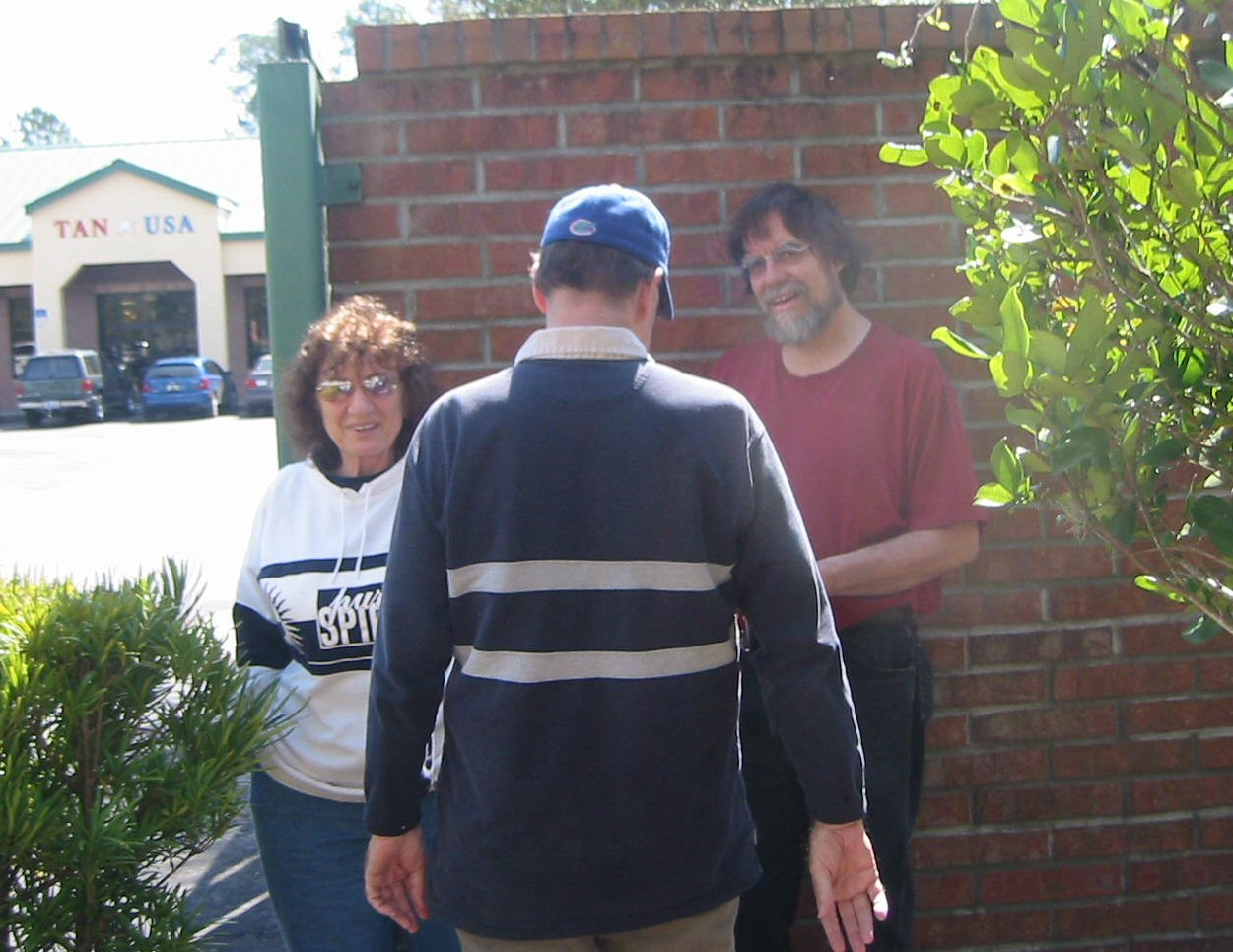 Greg, Priscilla (Kiki's Mom) and Gordon are close to the hiding place of the first cache