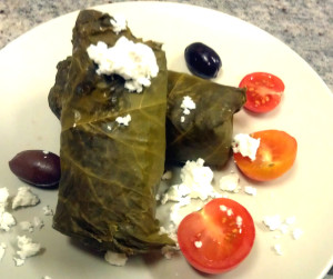 Stuffed Grape Leaves with Dark Milk Chocolate