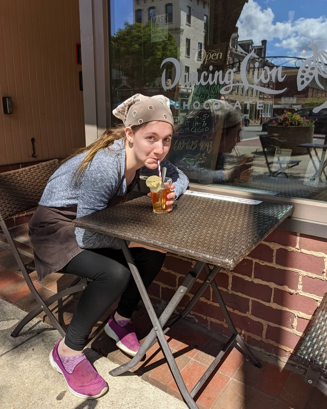 'That's quite the good combo!' Anabel remarks about our maple ice cream floats. #chocolatier #local #icecream #summer #icecreamparlor We make the ice cream from scratch, sourced from local ingredients and our sodas are made fresh in house.