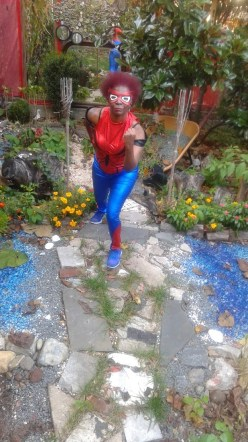 Spider Woman on the Move