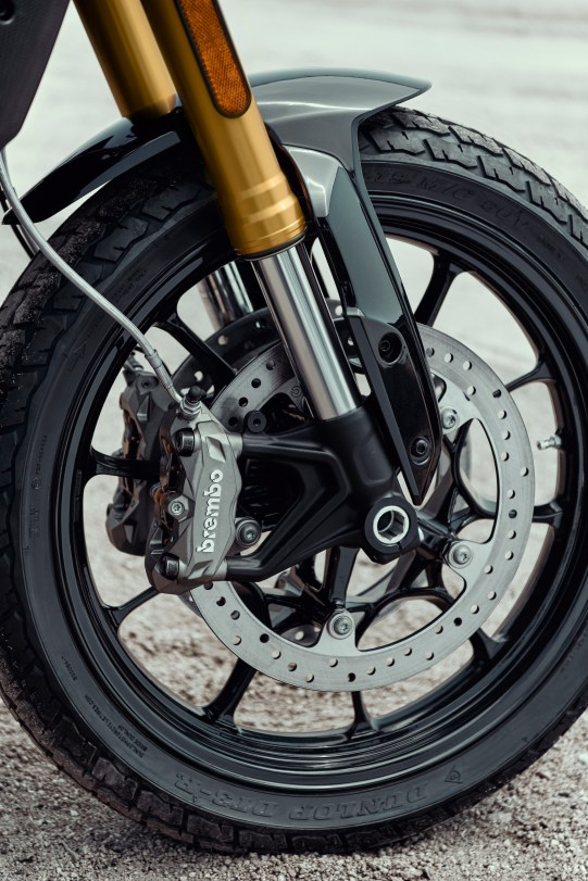 Dual front discs and Brembo brakes to offer plenty of whoa.