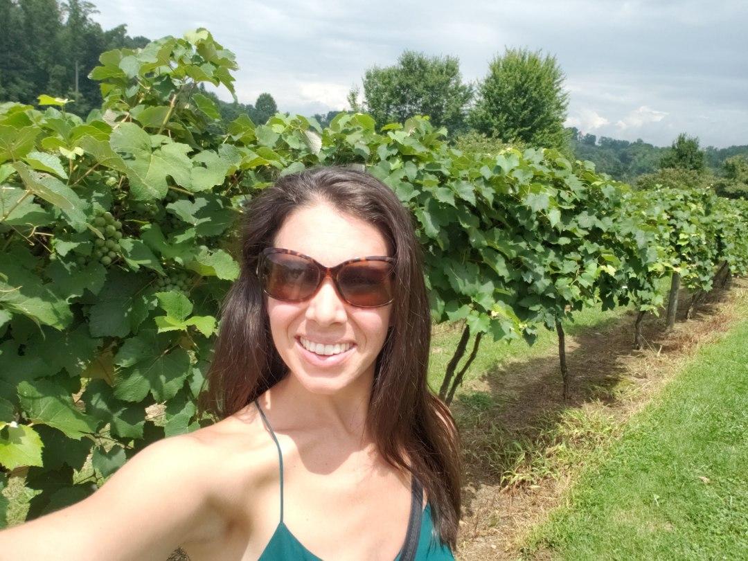 Jamie Van Cuyk in the Vineyards of Corey Ippolito Winery