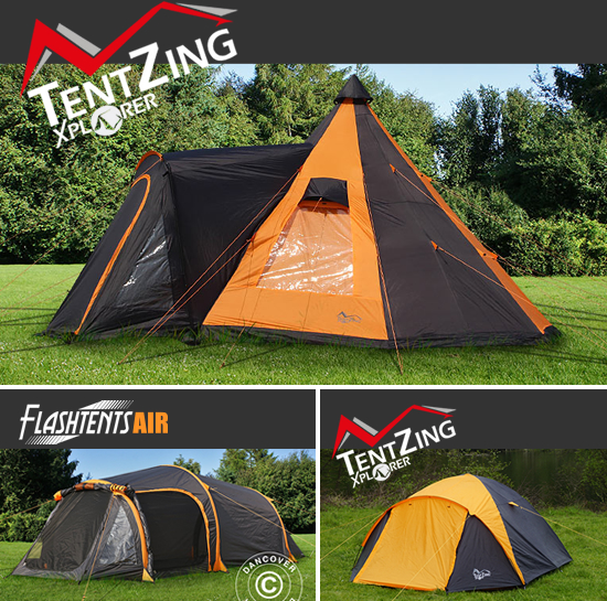Modern camping tents with many features