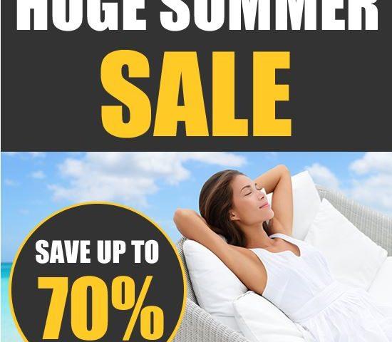 Huge summer sale