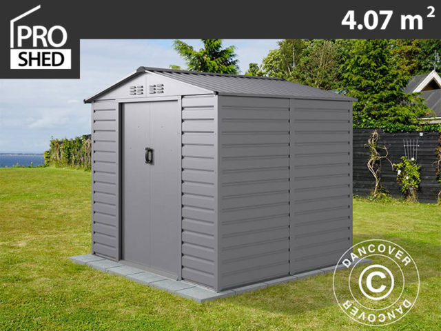 Metal sheds in strong panels