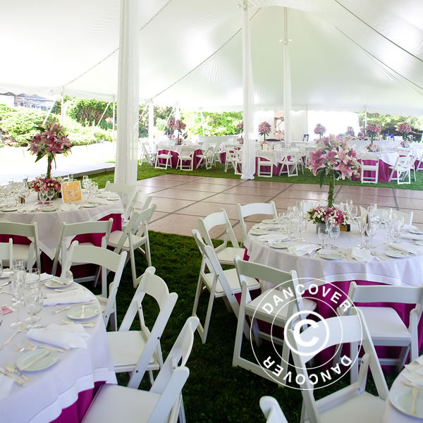 Table and chairs and elegant covers