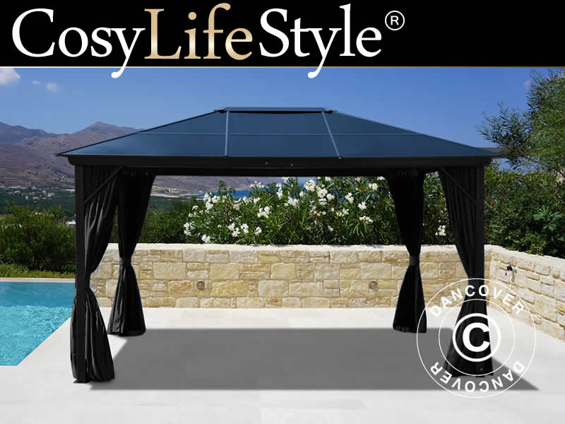 Black garden gazebos