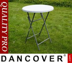 Round Bar Table Ø 80 cm, Light grey
