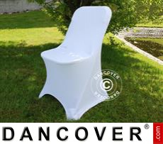 Stretch chair cover, 44x44x80 cm, White (1 pcs.)