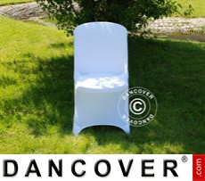 Stretch chair cover, 48x43x89 cm, White (10 pcs.)
