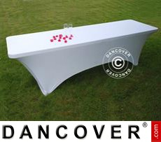 Stretch table cover, 244x75x74 cm, White