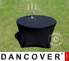Stretch table cover, Ø116x74cm, Black