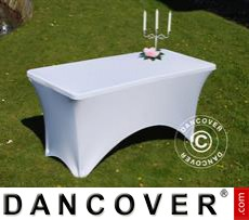 Stretch table cover, 150x72x74 cm, White