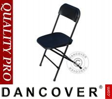 Folding Chair, black 44x44x80 cm, 8 pcs.