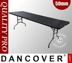 Folding Table, 242x76x74cm, Black (1 pc.)