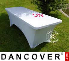 Stretch table cover, 200x90x74 cm, White