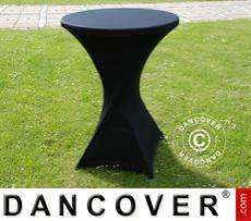 Stretch table cover, Ø80x110cm, Black
