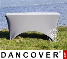 Stretch table cover, 244x75x74 cm, Grey