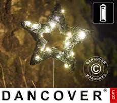 LED Fairy lights, Star, Small, Garden, 16 cm, Green/Warm White, 2 pcs.