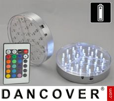 LED light base (2 pcs.), DIA 15 cm, multicoloured