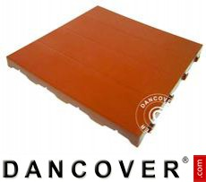 Plastic flooring Basic, Piastrella, Terracotta red, 10.08 m²