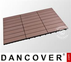 Decking tiles WPC, 0.3x0.3 m, Brown (6pcs/box)