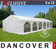 Party Marquee Exclusive 5x12 m PVC, White