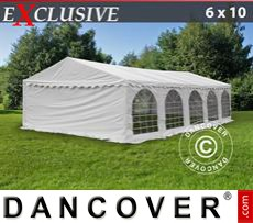 Party Marquee Exclusive 6x10 m PVC, White