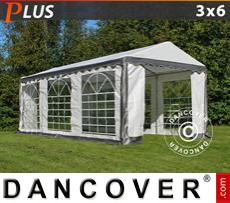 Party Marquee PLUS 3x6 m PE, Grey/White