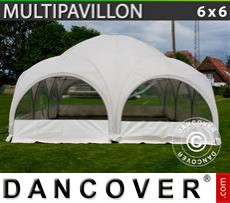 Party Marquee Multipavillon 6x6 m, White